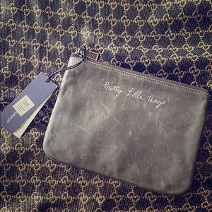 NWT Rebecca Minkoff Distressed Leather Pouch